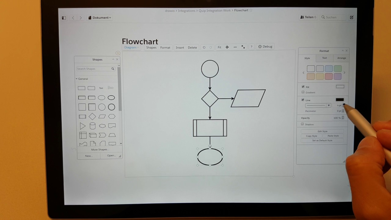 Create A Draw Io Diagram In Quip Quickly On A Surface Pro