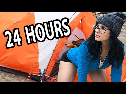 24 HOUR OVERNIGHT CHALLENGE IN A TENT