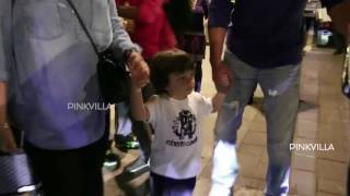 EXCLUSIVE | AbRam Walks with Daddy SRK, Steals The Show!