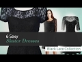 6 Sexy Skater Dresses Black Lace Collection