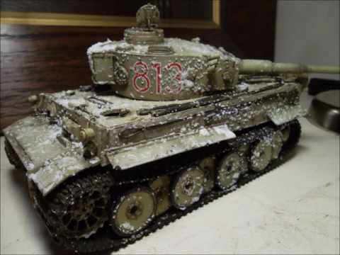 Model Tiger tank painting techniques: hairspray and salt