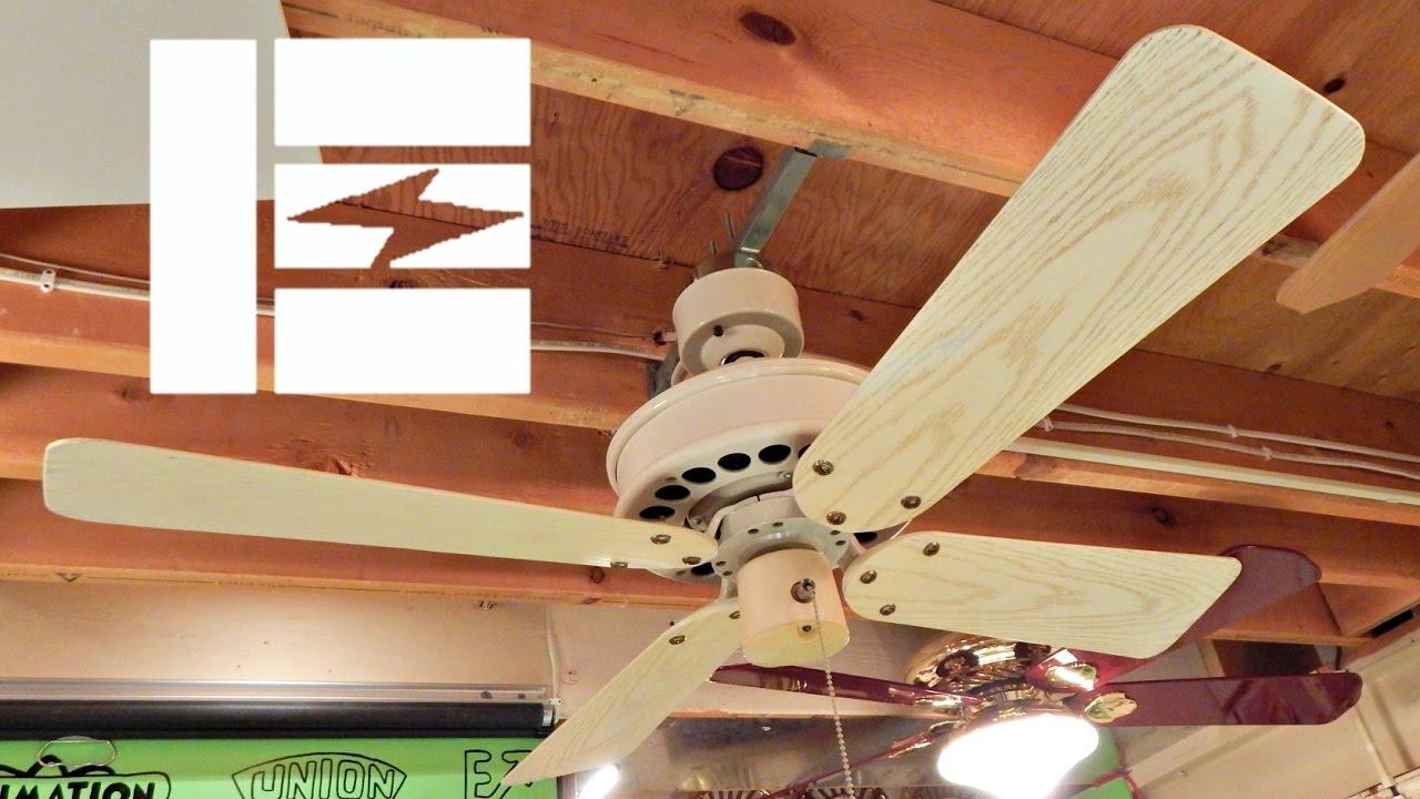 White Plastic Emerson Designer Ceiling Fan 1080p Hd Remake