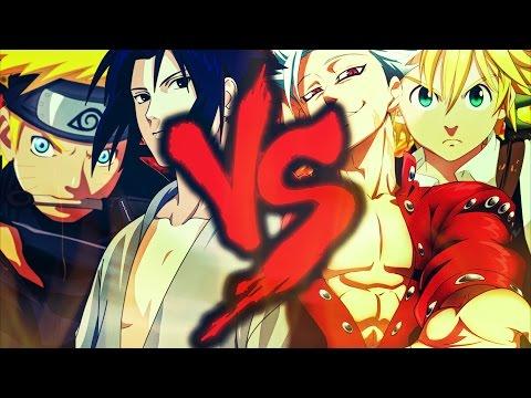 Naruto e Sasuke Vs Meliodas e Ban | Batalha Dos Kings