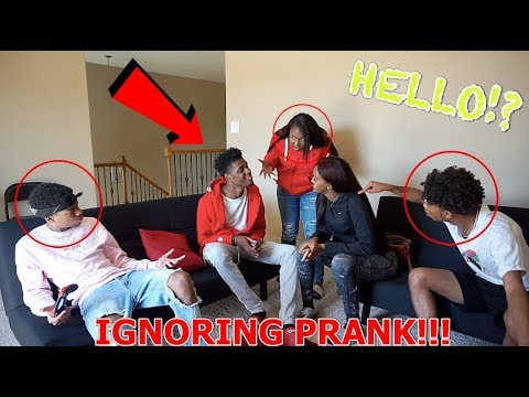 IGNORING PRANK ON THE BANANA CREW!!! ( THEY GETS MAD )