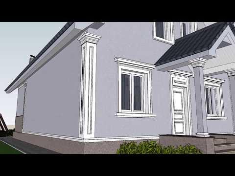 Одноэтажный дом с мансардой - фасады Z1