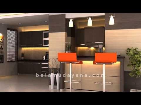 Interior Kitchen Set Dan Minibar Minimalist Modern
