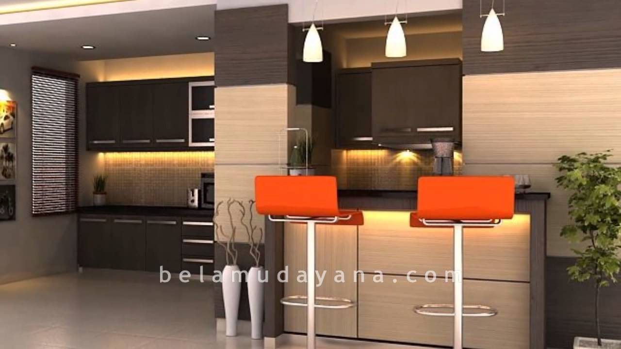 Interior kitchen set dan minibar minimalist modern for Kitchen set minimalist design