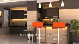 Interior Kitchen Set dan Minibar Minimalist Modern Yogyakarta