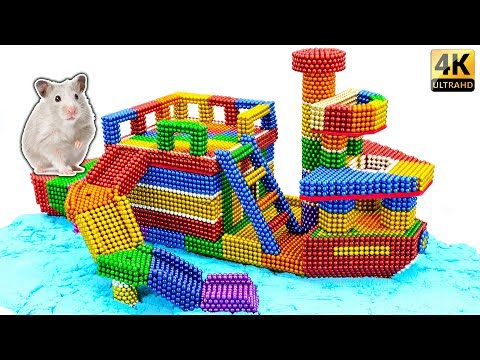 DIY - Build Amazing Hamster Playground Ship House With Magnetic Balls (Satisfying) - Magnet Balls