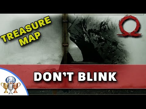 God of War Treasure Map - Don't Blink - Map and Dig Spot Locations