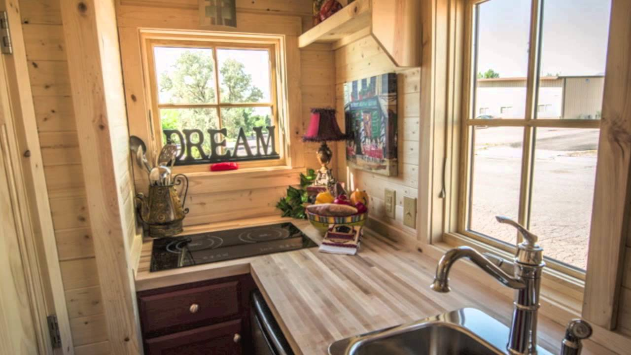 117 sq ft tumbleweed elm 18 overlook tiny house youtube - Tumbleweed tiny house interior ...