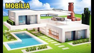 Minecraft Tutorial: CASA SUPER MODERNA - MOBÍLIA
