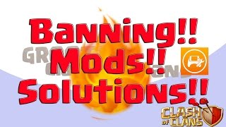 🔴Banning, Modding & Solutions, Honest Discussion🔴 Clash Of Clans Update Groottv Threestarcircus