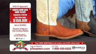 Double H Square Toe Roper Cowboy Boots