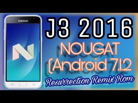 Install Nougat on Galaxy J3 2016 (Resurrection Remix) / STABLE / 2018