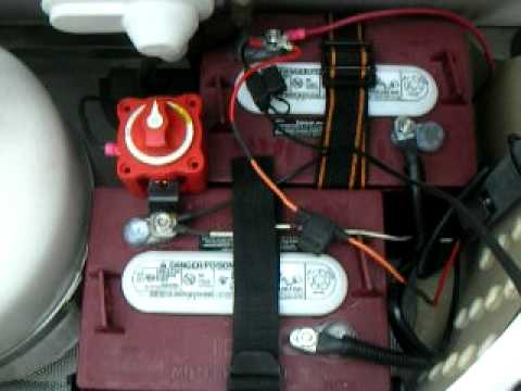 Jayco Trailer Battery Wiring Diagram Delco 7si Alternator Camping Trailer, Tent Teardrop And T@b Dual 6 Volt Setup - Youtube