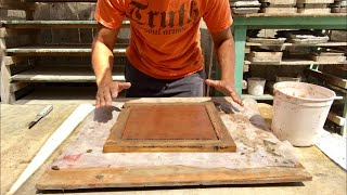 COMO HACER MOSAICOS RUSTICOS CON CEMENTO DE SECADO RAPIDO/ how to make clay tile