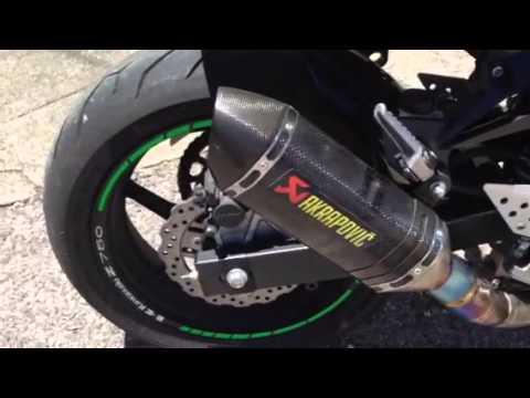 Kawasaki Z750 2008 Extras Akrapovic Slip On Exhaust Carbon Youtube