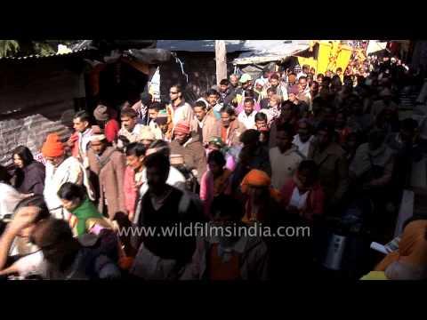 Parade in the name of Goddess Ganga