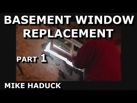 How I replace a basement window (part 1 of 3)  Mike Haduck