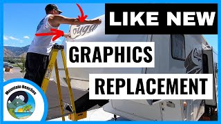 How To REMOVE & REPLACE RV DECALS & RV Graphics | RV Living | RV Life
