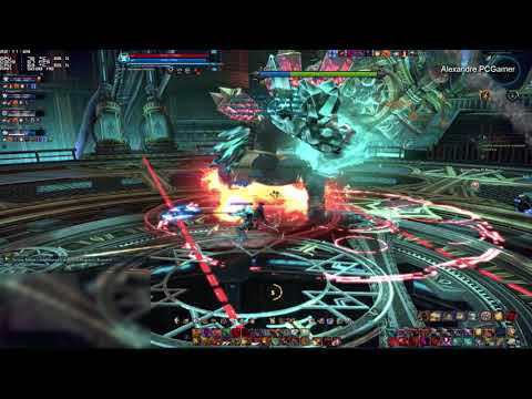 Thaumetal Refinery Last Boss with Warrior Tera online Gameplay training run