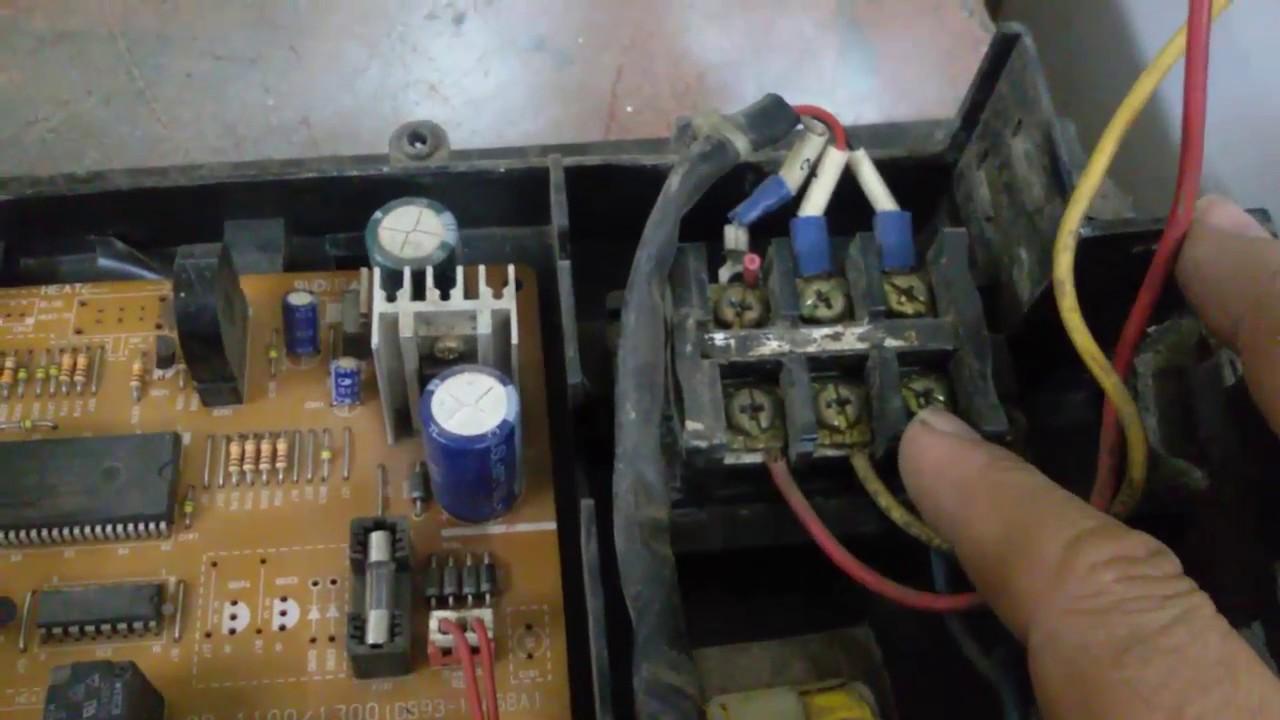 حل مشكل عدم استجابة الوحدة الخارجية لمكيف مع الكرت الالكتروني Cardboard Air Conditioner Not Respond Youtube