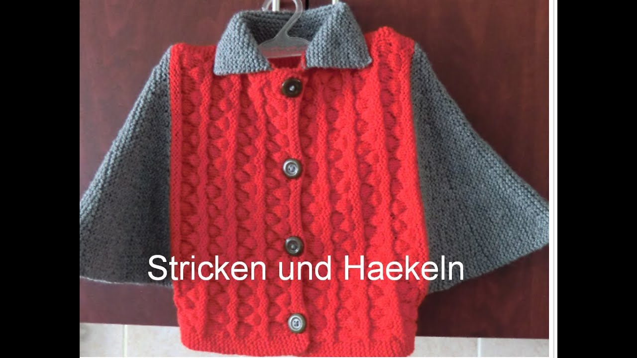 strickmuster poncho jacke teil 1 youtube. Black Bedroom Furniture Sets. Home Design Ideas