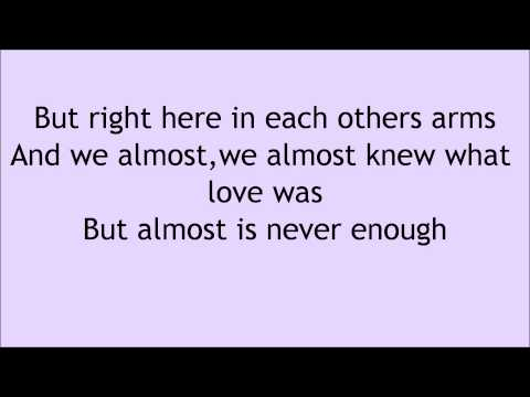 Ariana Grande feat Nathan Sykes Almost Is Never Enough Lyrics