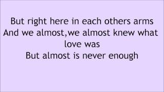 Download Ariana Grande feat Nathan Sykes Almost Is Never Enough Lyrics Mp3 and Videos