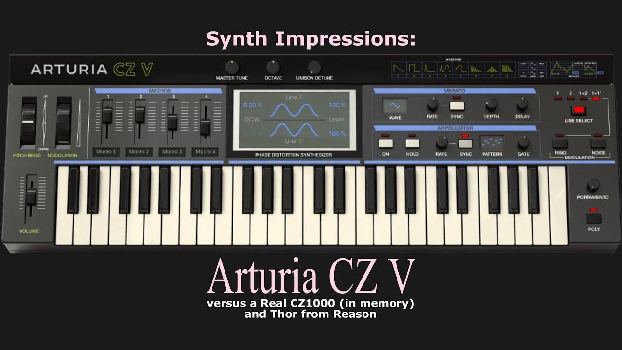Arturia Synthi, Casio CZ, and Mellotron - V Collection 7