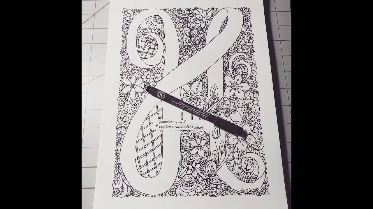 speed doodling letter h alphabet doodling youtube