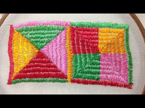 Latest & Original Phulkari Stitch Design Hand Embroidery Design
