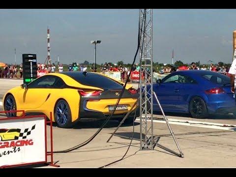 Bmw I8 vs Audi TT RS Quattro 500 HP + - Drag Race Arad 21.05.2017