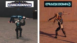 Crackdown 3 VS Crackdown 1 | Physics Comparison | Comparativa de físicas