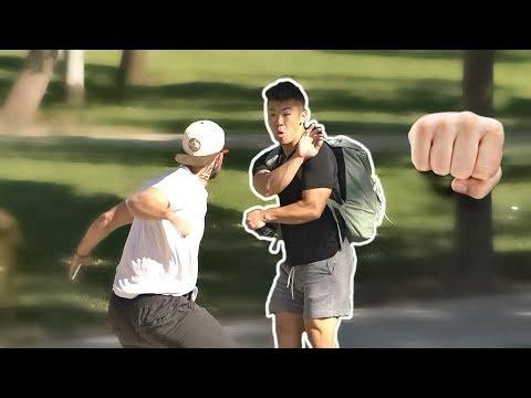 Punching Scare Prank
