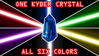 EASY Savi's (Galaxy's Edge) lightsaber HACK! One Kyber Crystal - all six colors!