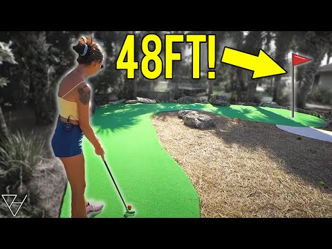 Incredible Challenging Mini Golf Putting Course!