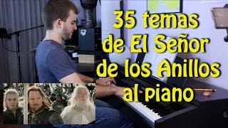 Todos los temas de El Señor de los Anillos al piano