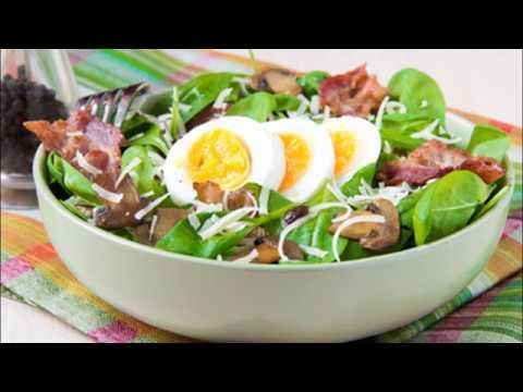 recette-:-salade-d'épinards-nouveaux-aux-lardons
