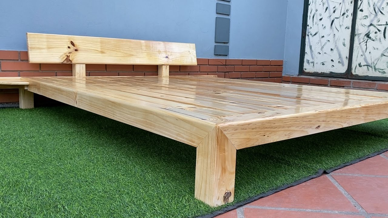 Woodworking Ideas And Skills // How To Build A Wooden Bed Frame.   You Can Totally Make