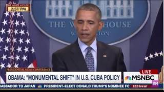 Obama habla de pies secos pies mojados