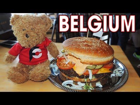2.5kg Chuckwagon Cheeseburger Challenge in Belgium!!