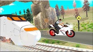 Train vs Super Nitro Bike Racing Challenge - Gameplay Android game