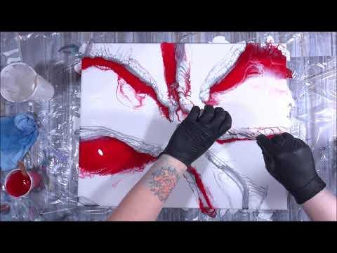 Red & Silver Resin Artwork (307) Stone Coat Countertops Resin