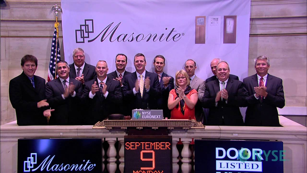 Masonite International Corporation Celebrates NYSE Listing