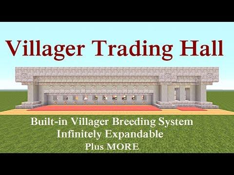 Minecraft Tutorial : Villager Trading Hall + Built-in Breeder & MORE ...