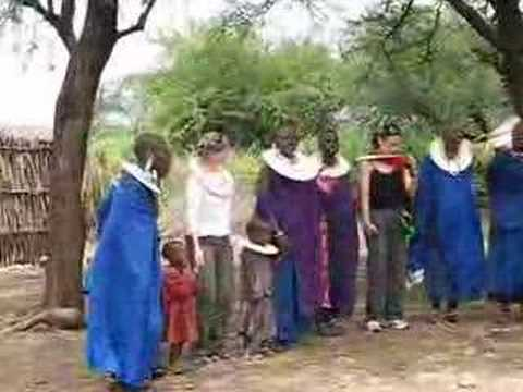 Maasai adumu in Tanzania village