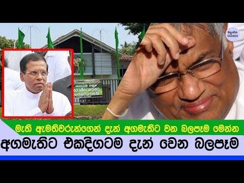 මැති ඇමතිවරු අගමැතිට ඡනපති ගැන දැන් කියන කථාව - 2018 election sri lanka