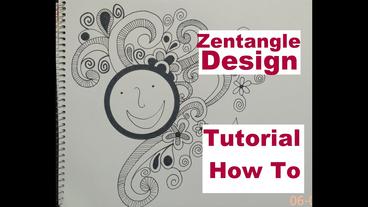 Line Art Design Tutorial : How to draw complex zentangle art design for beginners